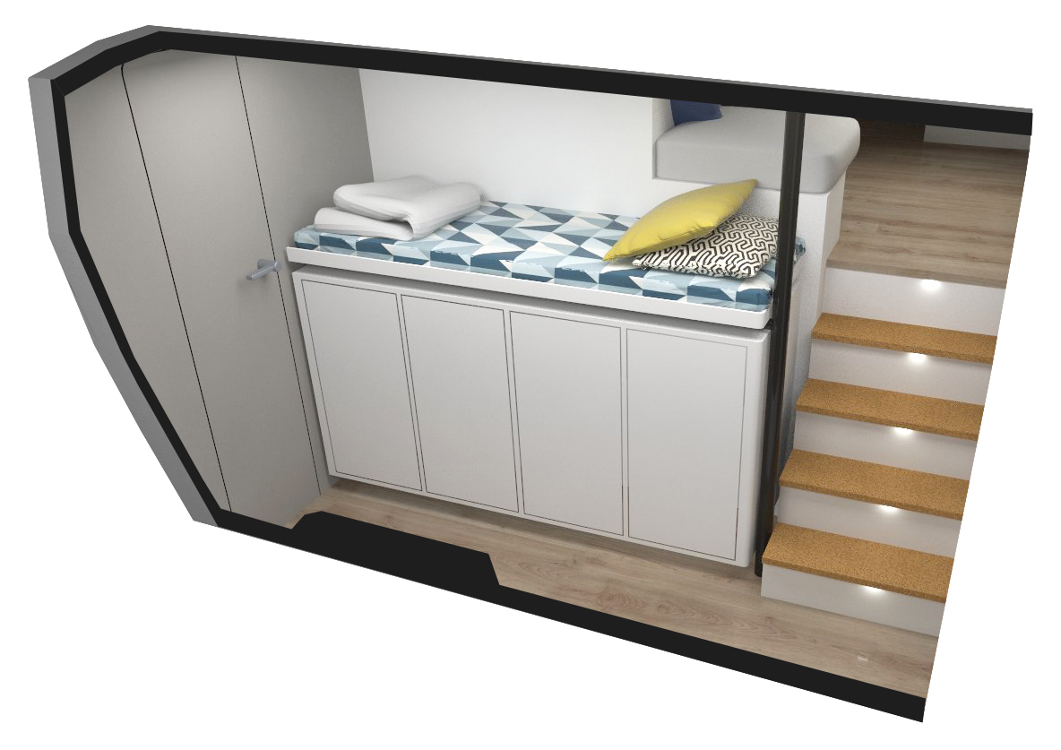 VCATAMARAN – Modular Option – Bed on Cabinet