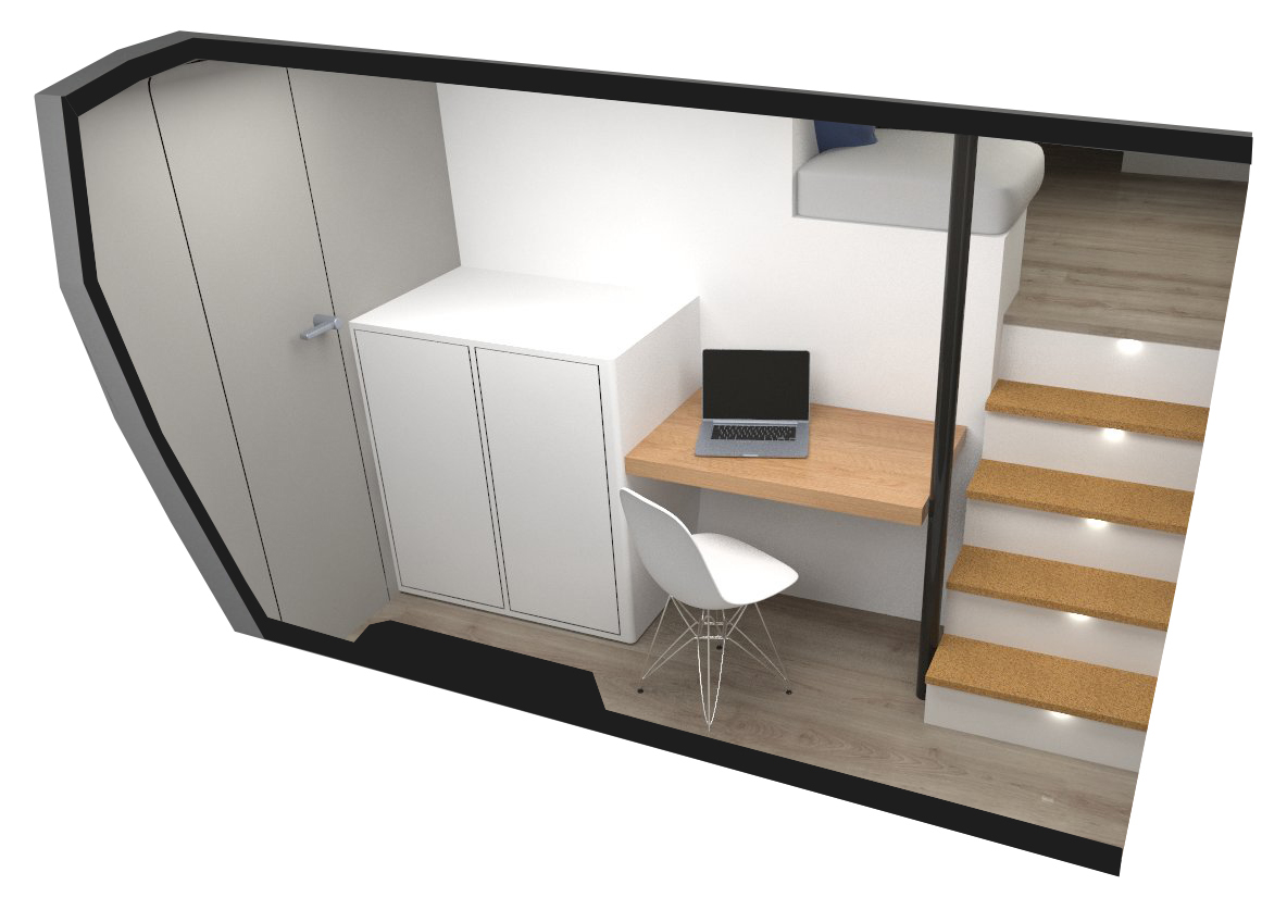 VCATAMARAN – Modular Option – Cabinet and Desk