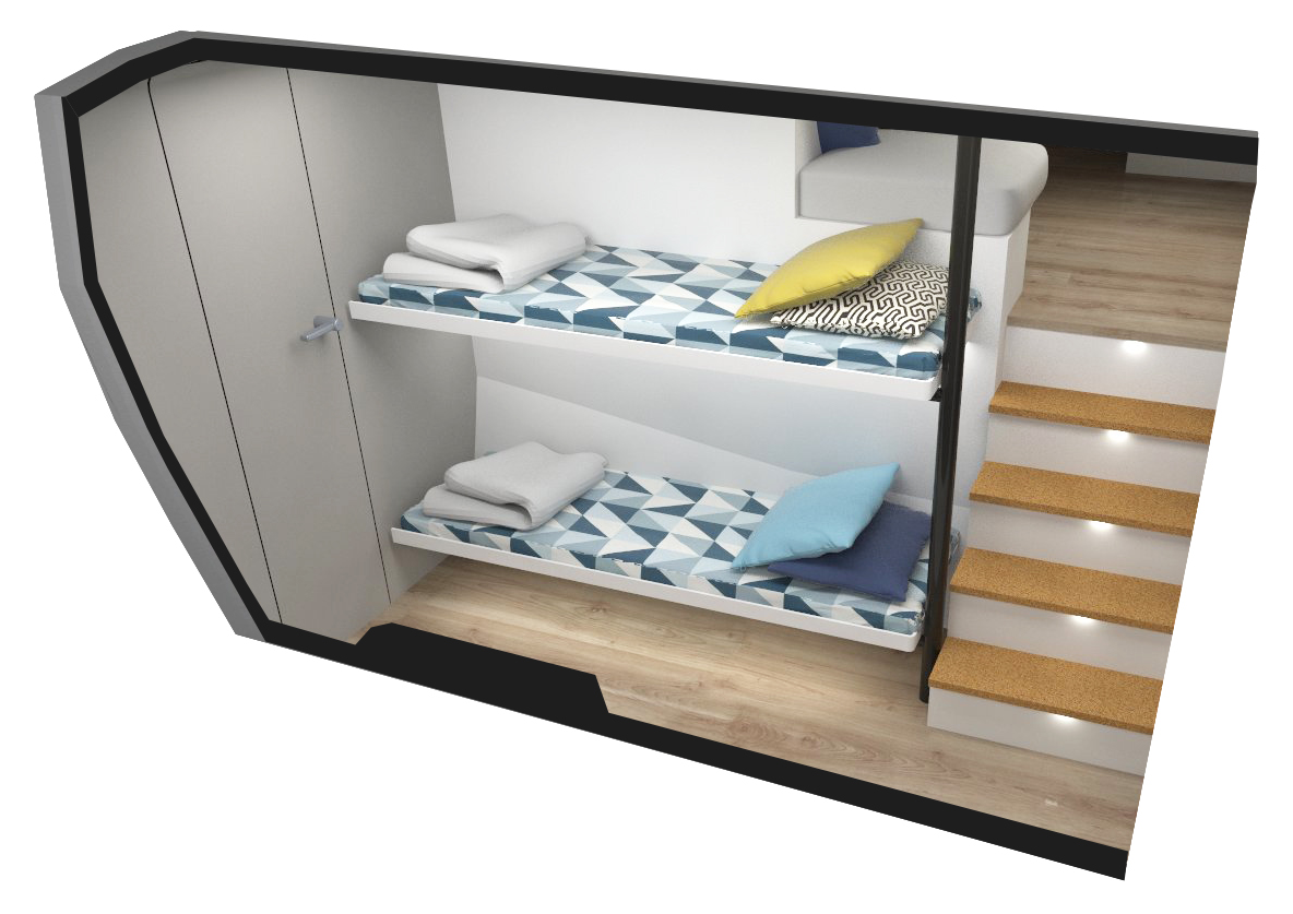 VCATAMARAN – Modular Option – two beds bunk